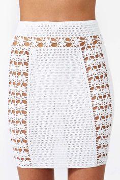 Dawn Crochet Skirt - white crochet mini skirt                                                                                                                                                      More