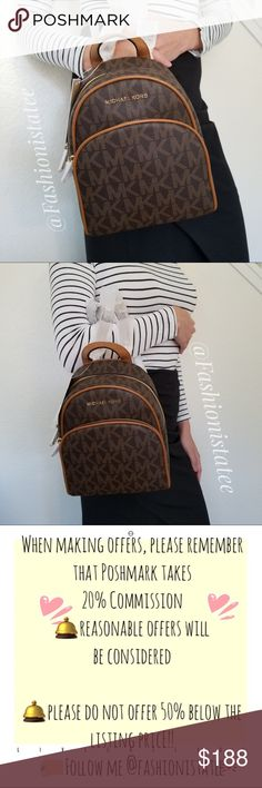 e007e34b1700 NWT MICHAEL KORS ABBEY BROWN ACORN BACKPACK XSMALL New With Tag 100%  Authentic This list is for a new Michael Kors Abbey XS Extra Small PVC  backpack