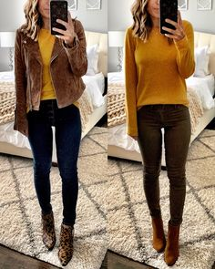 Tons of Fall outfit ideas and inspiration for you to save now and wear later when it cools off! Lots of leopard and cozy sweaters. Casual School Outfits, Casual Dress Outfits, Business Casual Outfits, Casual Summer Dresses, Sweater Outfits, Cool Outfits, Fall Dresses, Mustard Sweater Outfit, Christian Dior