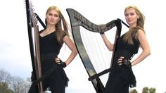 WITH OR WITHOUT YOU ( U2 ) Harp Twins - Camille and Kennerly