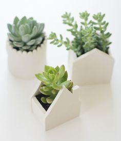 Créer des pots de fleurs miniatures