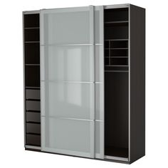 """IKEA - PAX, Wardrobe, 78 3/4x26x93 1/8 """",  , , 10-year Limited Warranty. Read about the terms in the Limited Warranty brochure.You can easily adapt this ready-made PAX/KOMPLEMENT combination to suit your needs and taste using the PAX planning tool.Sliding doors allow more room for furniture because they don't take any space to open.If you want to organize inside you can complement with interior organizers from the KOMPLEMENT series.Adjustable feet make it possible to compensate for any…"""