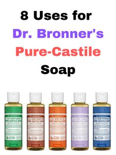 Love castile soap? Curious how you can use it? Here are 8 unique ways you can use Dr. Bronner's sal suds liquid cleaner in your home.