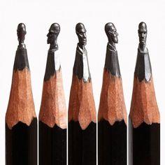 Pencil carvings.