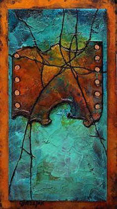 Hidden Treasure,   091615 by Carol Nelson mixed media ~ 12 x 6