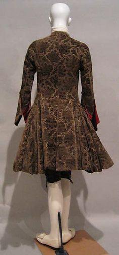 Ensemble (image 1) | British | 1740 | silk, metallic thread | Metropolitan Museum of Art | Accession Number: 1977.309.1a, b