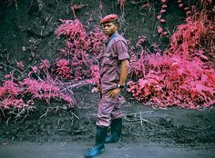 Congo. Richard Mosse with an infrared film.