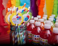 Rainbow Balloons Birthday Party Ideas   Photo 13 of 13