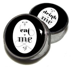 """Eat Me, Drink Me Plugs - 1 Pair - Sizes 2g, 0g, 00g, 7/16"""", 1/2"""", 9/16"""", 5/8"""", 3/4"""", 7/8"""" & 1"""" on Etsy, $19.95"""