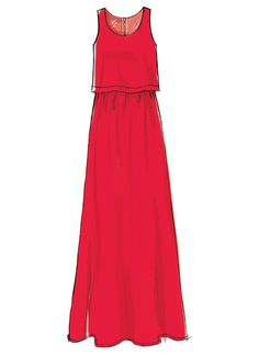 From Laura Ashley for McCall's: Misses' Overlay-Bodice Dresses, Romper and Jumpsuit. M7409