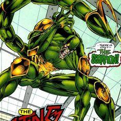 Scorpion screenshots, images and pictures - Comic Vine Marvel Villains, Marvel Characters, Marvel Comics, Evil Geniuses, Fantasy Comics, Lex Luthor, Amazing Spider, Scorpion, Disney Art