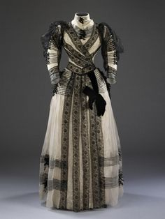 Half Mourning Dress  1889-1892  French  V&A