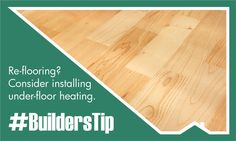 Re-flooring a room? Whether it's wood, tile or laminate, consider installing under-floor heating. Not only is it cosy, it increases the value of your property. Builders Warehouse, Cosy, Tile, Flooring, Mosaics, Wood Flooring, Tiles, Floor, Backsplash