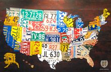 License Plate Map of the United States