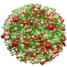 This embellishment pack contains a luscious mixture of rhinestones and pearls in tones red and green The sparkly gems range in size from to Decoden, Nail Decorations, Ornament Wreath, Embellishments, Card Making, Packing, Gems, Range