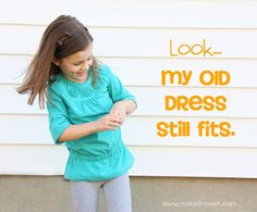 This is so easy! Why have I been giving my kid's old clothes away??