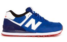 Blue and Red ML574 Sneakers