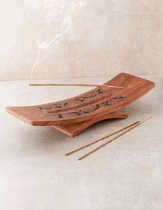 Hand Carved Wooden Incense Burner