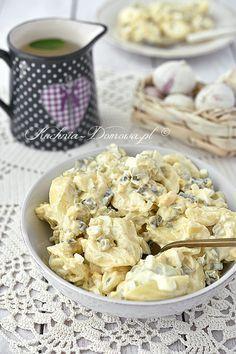 Sałatka czosnkowa z tortellini Tortellini, Macaron, Coleslaw, Potato Salad, Cauliflower, Food And Drink, Tasty, Vegetables, Cooking