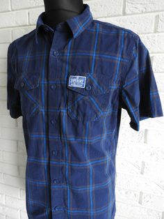 Superdry Check Men s Long Sleeve Shirt Size XL