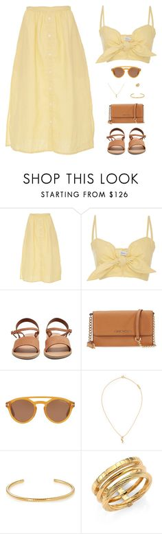 """Sin título #4981"" by mdmsb on Polyvore featuring moda, Faithfull, Ancient Greek Sandals, Michael Kors, Tom Ford y Yves Saint Laurent"