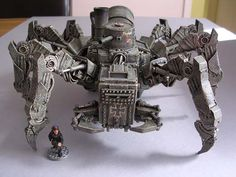Author: Bullshot  Painted Huntsman Spider Tank conversion. Figure from authors collection.