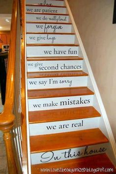 I would love to do this to my stairs, great idea!