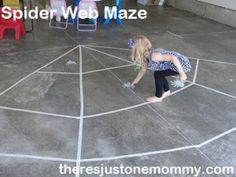 Spider Web Maze -- easy #Halloween party game for kids