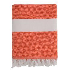 Orange Herringbone Fouta Towel