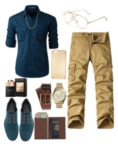 """Strong Men "" by jaylinehilson on Polyvore featuring LE3NO, Jimmy Choo, Jean Shop, Michael Kors, David Yurman, Balmain, Royce Leather, men's fashion and menswear"