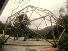 Geodesic dome made in bamboo guadua by Palakas