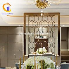 Customized Stainless Steel Restaurant Decorative Room Divider Partition Screen