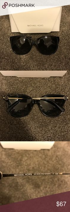Michael Kors polarized sunglasses In excellent condition with original case and cleaning cloth. Color is a dark tortoise shell. No trades. Michael Kors Accessories Sunglasses