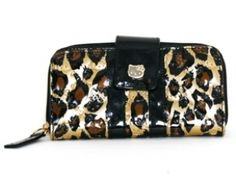 b7db84161b Loungefly Hello Kitty Leopard Patent Embossed Wallet Hello Kitty Items