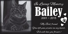Personalized Pet Stone Memorial Grave Marker Granite...Check it at http://www.hellosausage.com/pet-grave-markers/