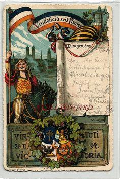 AK Studentika München Vindelicia SEI'S Panier 1901 16 12 | eBay