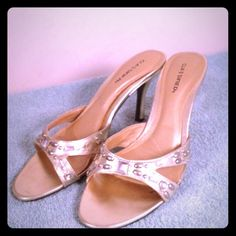 *REDUCED!!* Cute Gold Bling Classified Heels Good condition, very cute & trendy: ) Classified Shoes Heels
