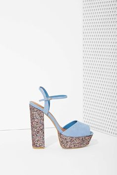 Shoe Cult Party Hard Platform - Glitter   Shop Shoes at Nasty Gal