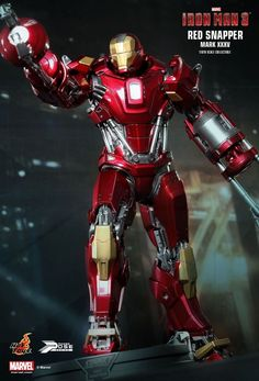 Iron Man 3 Mark XXXV Red Snapper Hot Toys 1/6 Scale Special Edition PPS002 MISB