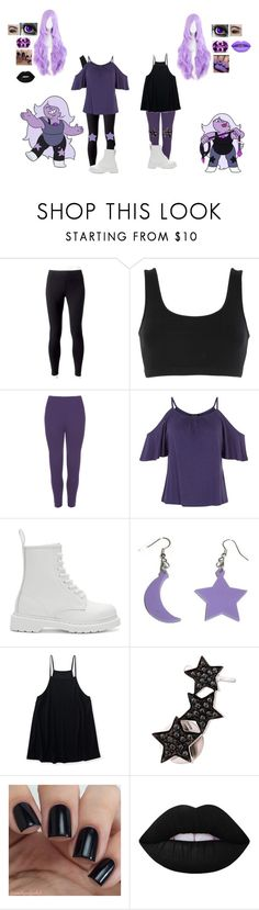 """""""Amethyst from Steven universe"""" by misspinkypie ❤ liked on Polyvore featuring Jockey, adidas Originals, WearAll, Dr. Martens, Aéropostale, Alinka, Lime Crime and Emanuele Bicocchi"""