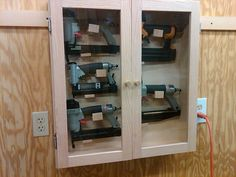 Nail Gun Storage Cabinet - by Vincent Nocito @ LumberJocks.com ~ woodworking community