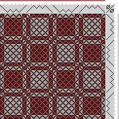 Hand Weaving Draft: Threading Draft from Divisional Profile, Tieup: Weber Kunst…
