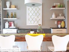 Large area off of kitchen - Display areas - Colors! DIY Upholstered Banquette Seat (part two) | Cape 27