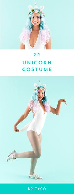 Learn how to DIY a unicorn Halloween costume with this easy tutorial.