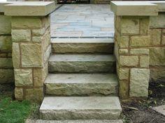 Natural sandstone steps 3' wide