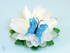 Estas mariposas están realizadas en ganchillo, con hilo de algodón y están listas para volar a tu lado.