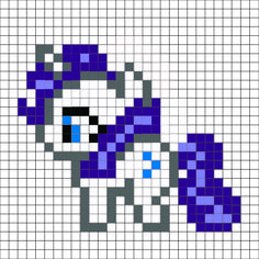 My Little Pony - Rarity Pattern - by me, I am not sure why, but the upload seems to have changed the colors. The hair is supposed to be a light and dark purple, not blue. For a free and better color, printable version go to lovinglifedesigns.blogspot.com