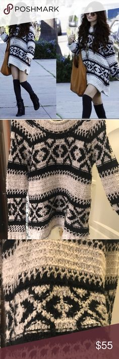 As seen on Selena Gomez! Free People Size M So cute and perfect to pair with leggings or jeans! Worn once! No snags. Free People Sweaters