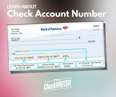 How To: Identify Check Account Number – What is Check Account Number – Finance tips for small business Writing Software, Checking Account, Business Checks, Learning Numbers, Online Checks, Check Printing, Finance Tips, Accounting, Berlin