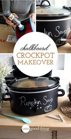 Does your old crockpot need a facelift? Turn it into a cute and versatile chalkboard crockpot with this easy and affordable DIY project!